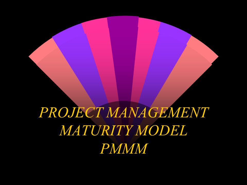 PMMM - Algunos modelos (Cont.) w Nivel cuatro: Se hace uso del benchmarking para mejorar Está establecida la Oficina de Proyectos Las auditorías se realizan en todos los proyectos significativos y las lecciones aprendidas se registran y se usan en proyectos futuros Un sistema de información integral existe para controlar el uso y desempeño de los recursos de todos los proyectos significativos