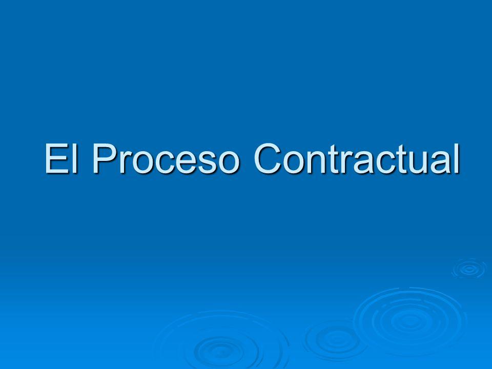 El Proceso Contractual
