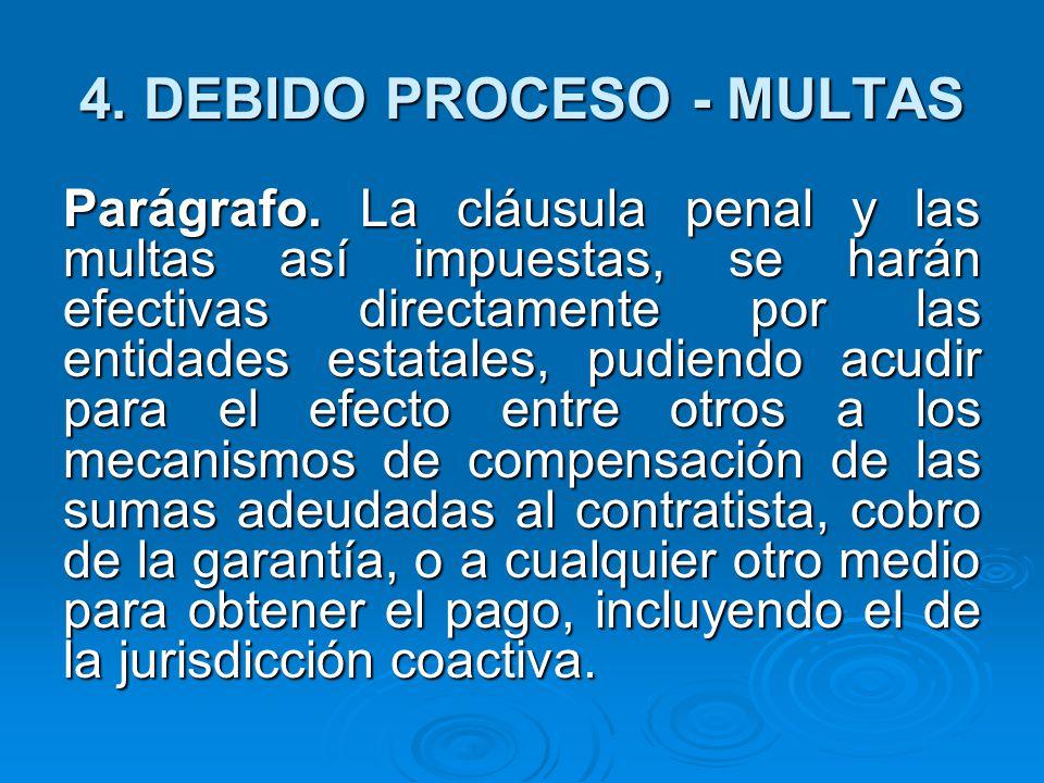 4.DEBIDO PROCESO - MULTAS Parágrafo.