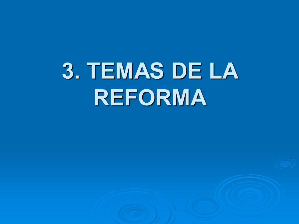 3. TEMAS DE LA REFORMA