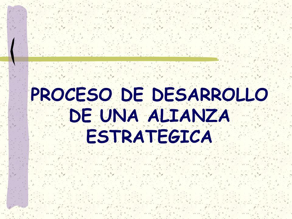 PROCESO DE DESARROLLO DE UNA ALIANZA ESTRATEGICA