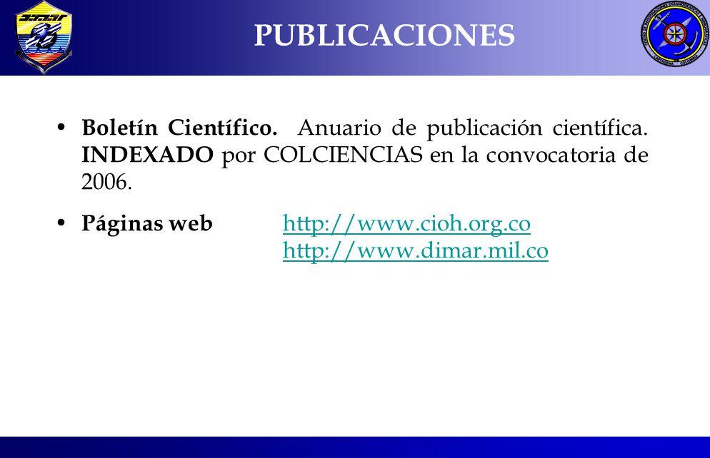 Boletín Científico. Anuario de publicación científica. INDEXADO por COLCIENCIAS en la convocatoria de 2006. Páginas web http://www.cioh.org.cohttp://w