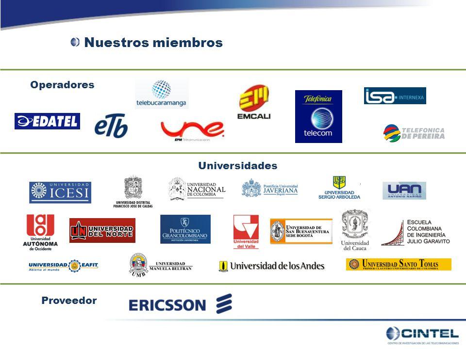 Operadores Universidades Proveedor Nuestros miembros