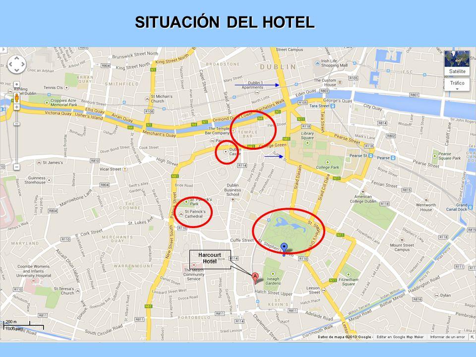 SITUACIÓN DEL HOTEL Harcourt Hotel