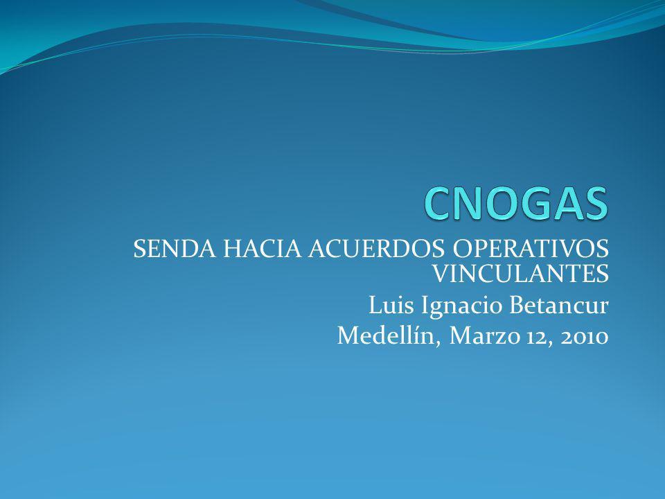 SENDA HACIA ACUERDOS OPERATIVOS VINCULANTES Luis Ignacio Betancur Medellín, Marzo 12, 2010