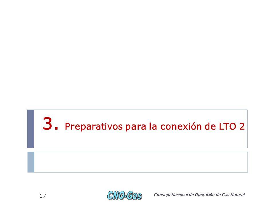 3. Preparativos para la conexión de LTO 2 Consejo Nacional de Operación de Gas Natural 17