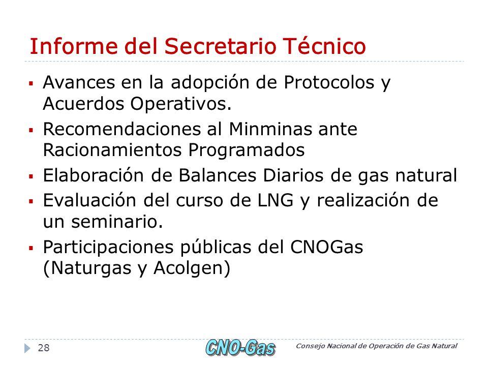 Informe del Secretario Técnico Avances en la adopción de Protocolos y Acuerdos Operativos.
