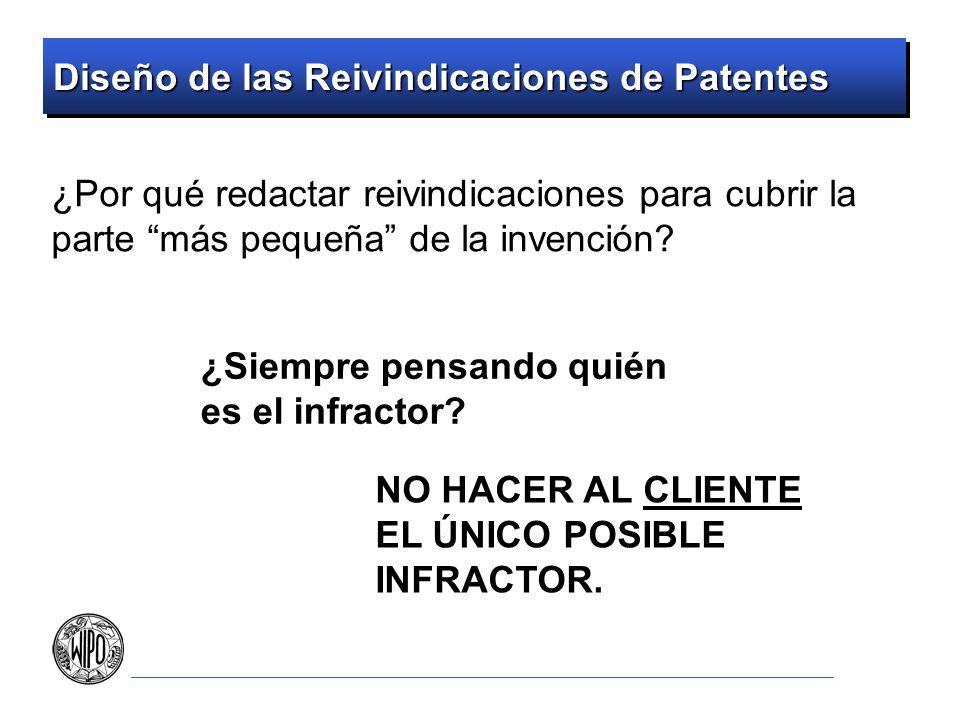 Diseño de las Reivindicaciones de Patentes ¿Por qué redactar reivindicaciones para cubrir la parte más pequeña de la invención? ¿Siempre pensando quié