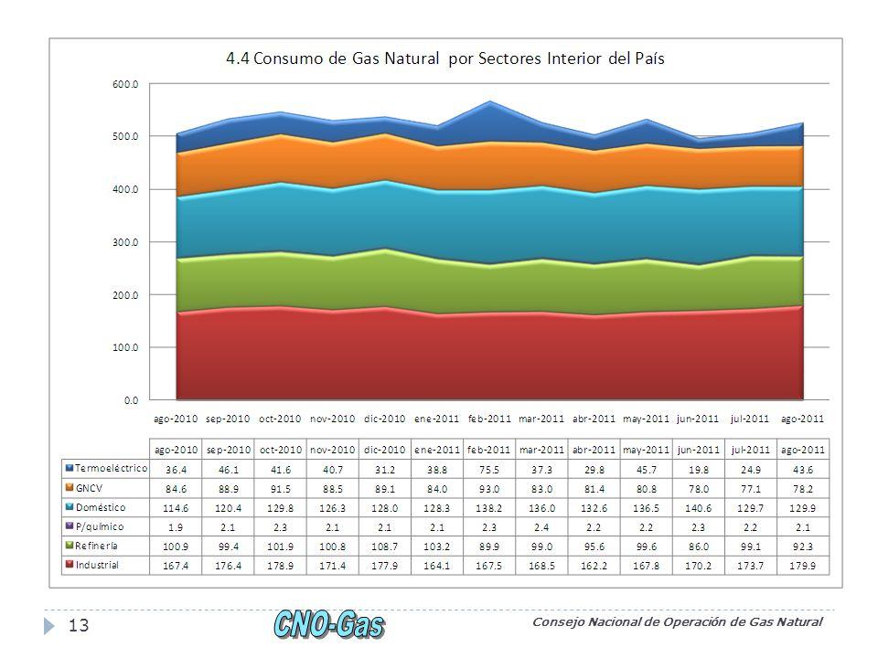 Consejo Nacional de Operación de Gas Natural 13