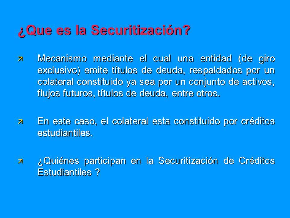 ¿Que es la Securitización.