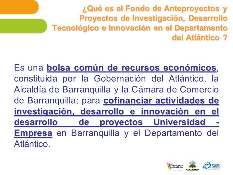 ¿Qué es el Fondo de Anteproyectos y Proyectos de Investigación, Desarrollo Tecnológico e Innovación en el Departamento del Atlántico .