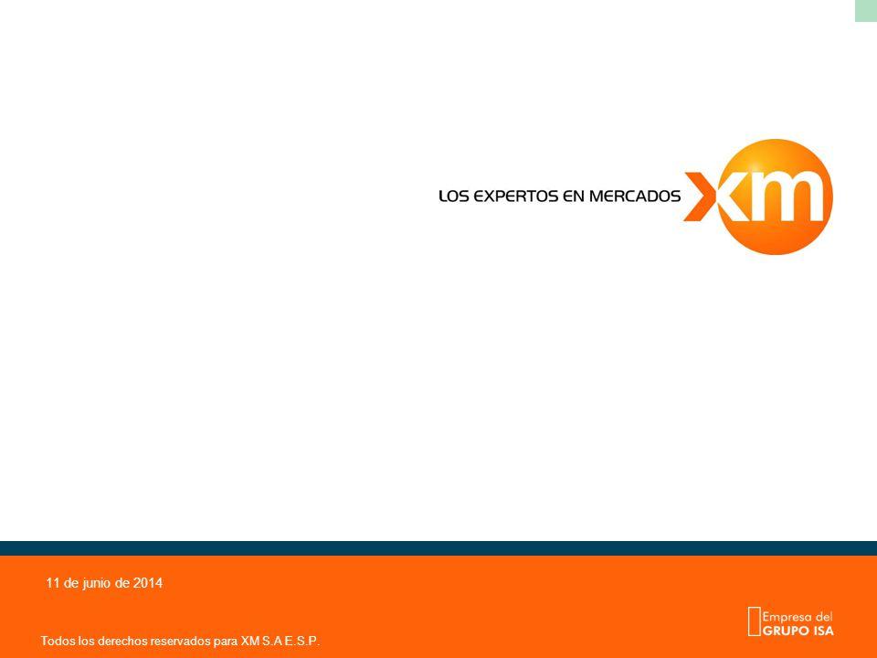 Todos los derechos reservados para XM S.A E.S.P. 11 de junio de 2014