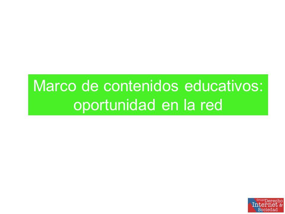 Marco de contenidos educativos: oportunidad en la red