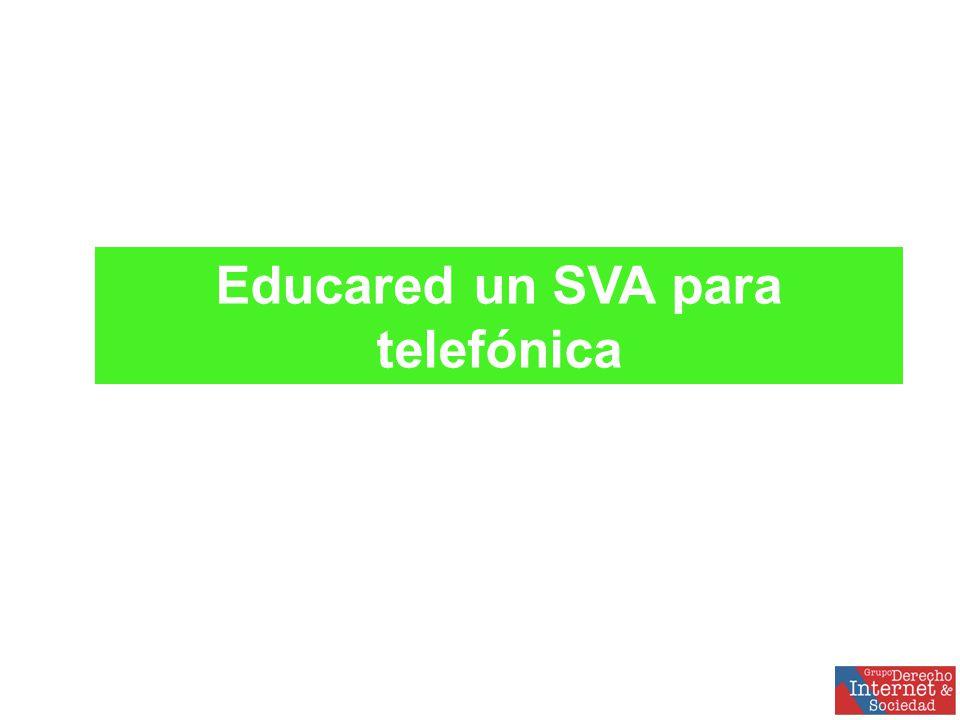 Educared un SVA para telefónica