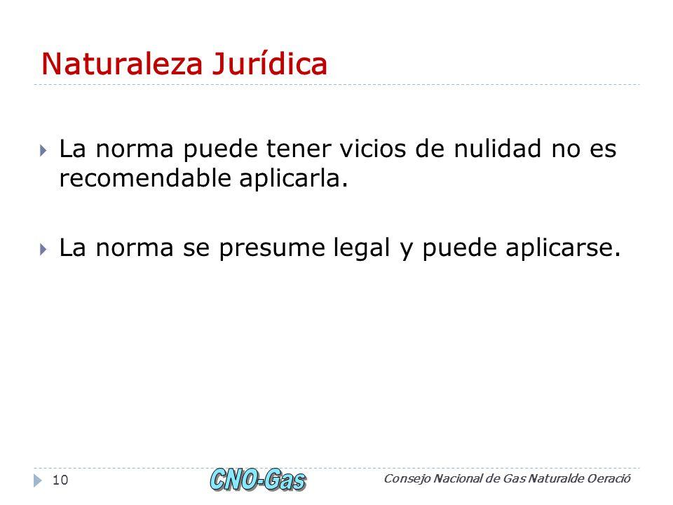 Naturaleza Jurídica La norma puede tener vicios de nulidad no es recomendable aplicarla.