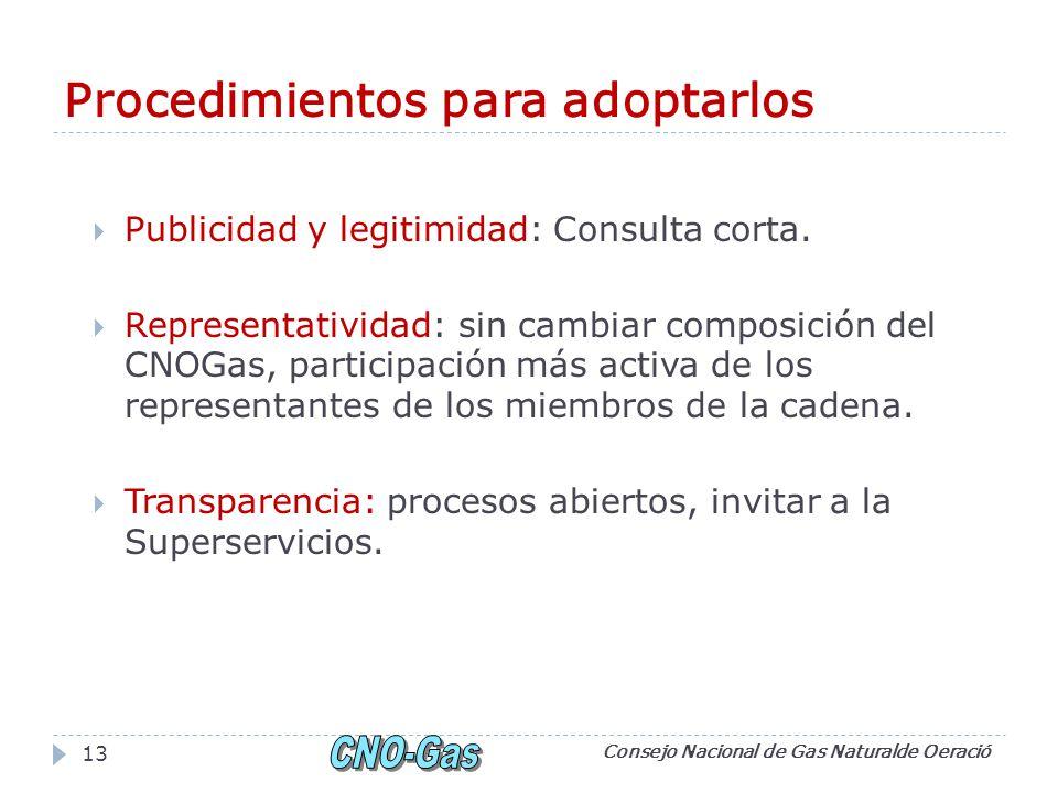 Procedimientos para adoptarlos Publicidad y legitimidad: Consulta corta.