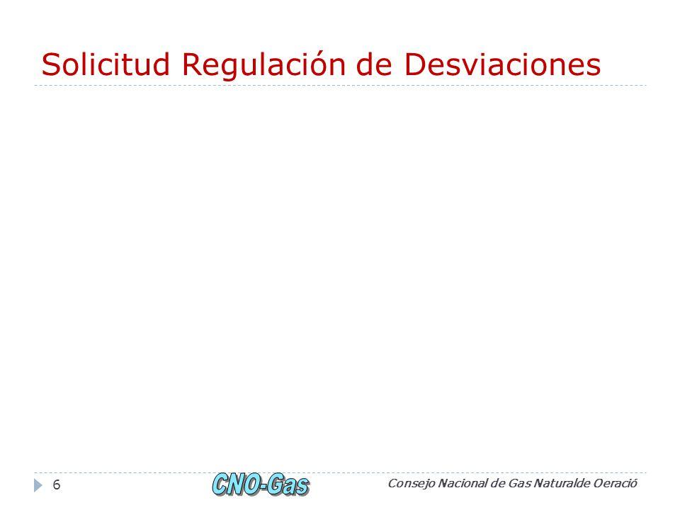 Solicitud Regulación de Desviaciones Consejo Nacional de Gas Naturalde Oeració 6