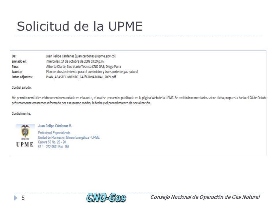 Solicitud de la UPME Consejo Nacional de Operación de Gas Natural 5