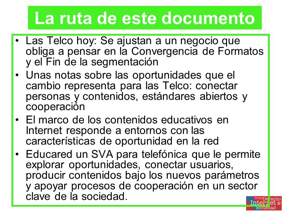 Telco 2.0 - IBA/ING 2009 12 Telco 1.0 Modelo estable desde que se inventó el telégrafo Basado en dos pilares fundamentales 1.Integración vertical: servicios controlados y cobrados por el dueño de la red 2.Modelo de negocio unilateral operadora compra equipos y contenidos a los proveedores (upstream) los integra y cobra al usuario final por el servicio (downstream) http://www.slideshare.net/guest71451d/telco-20-1495189 FIN DE LA SEGMENTACIONOperadores protagonistas de transformación de laindustria