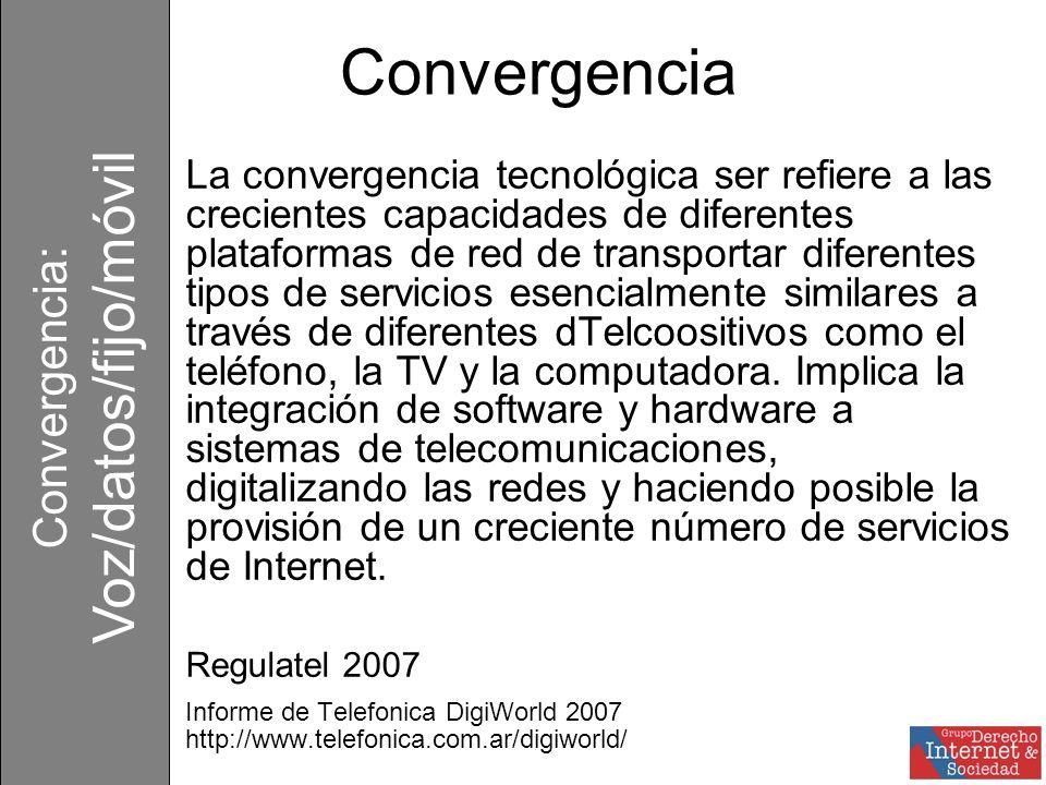 Convergencia: Voz/datos/fijo/móvil http://www.rand.org/pubs/technical_reports/2006/RAND_TR303.sum.pdf