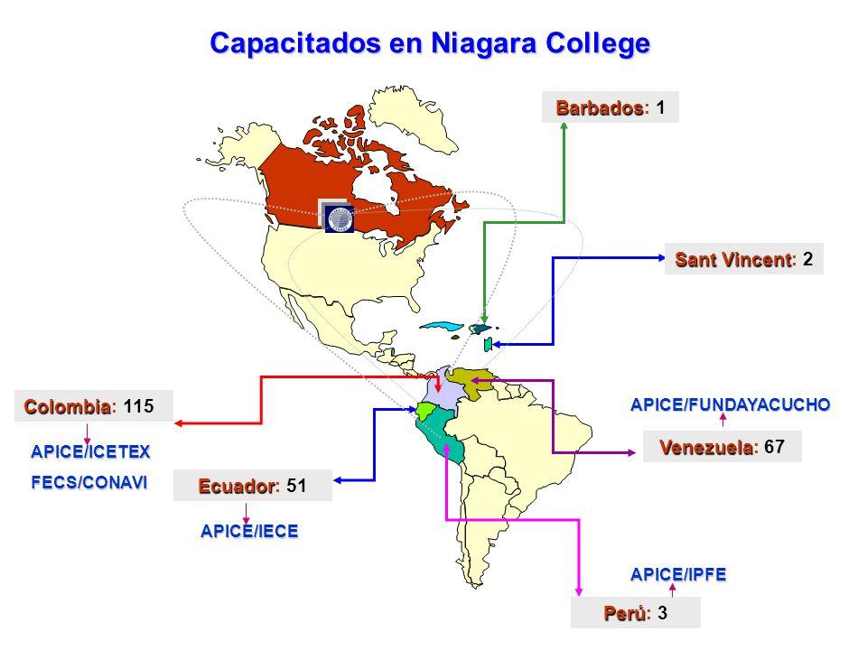 1996 1997 1998 1999 2000 2001 2002 2003 239 19 63 24 67 66 Total 4796150TOTAL 26472003 13502002 1232001 140262000 1201441999 Pregrado Cursos especiales PostgradoInglés Latinoamericanos capacitados en Niagara College 1999 2000 2001 2002 2003