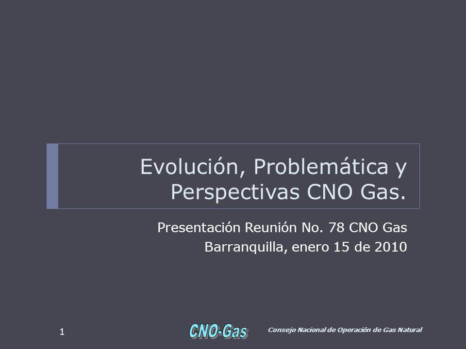 Evolución, Problemática y Perspectivas CNO Gas. Presentación Reunión No.