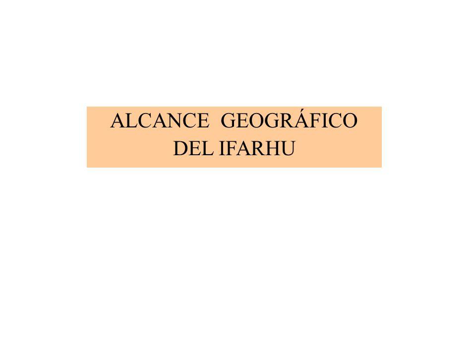 ALCANCE GEOGRÁFICO DEL IFARHU