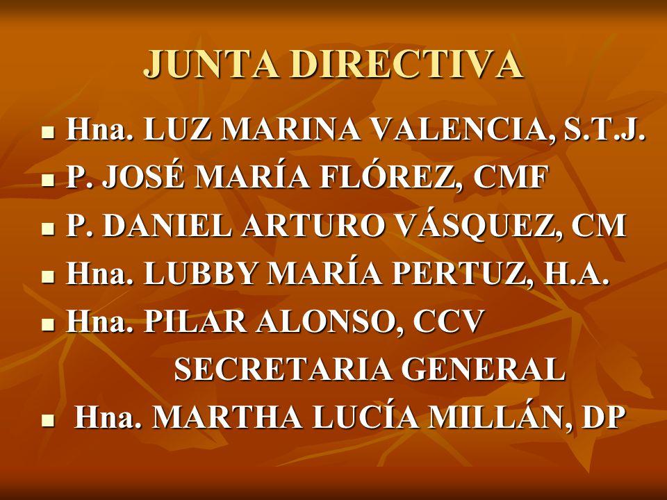 JUNTA DIRECTIVA Hna.LUZ MARINA VALENCIA, S.T.J. Hna.