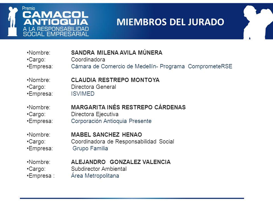 GANADORES DEL PREMIO CAMACOL ANTIOQUIA A LA RESPONSABILIDAD SOCIAL EMPRESARIAL SEGUNDA VERSION 2010