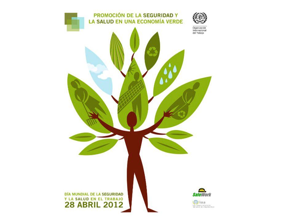 2 La economía verde y los empleos verdes Respuesta a los desafíos mundiales de: evitar el cambio climático y el deterioro de los recursos naturales lograr un desarrollo sostenible con crecimiento económico, equidad social protección del medio ambiente Programa de Empleos Verdes: OIT, PNUMA, OIE, CSI