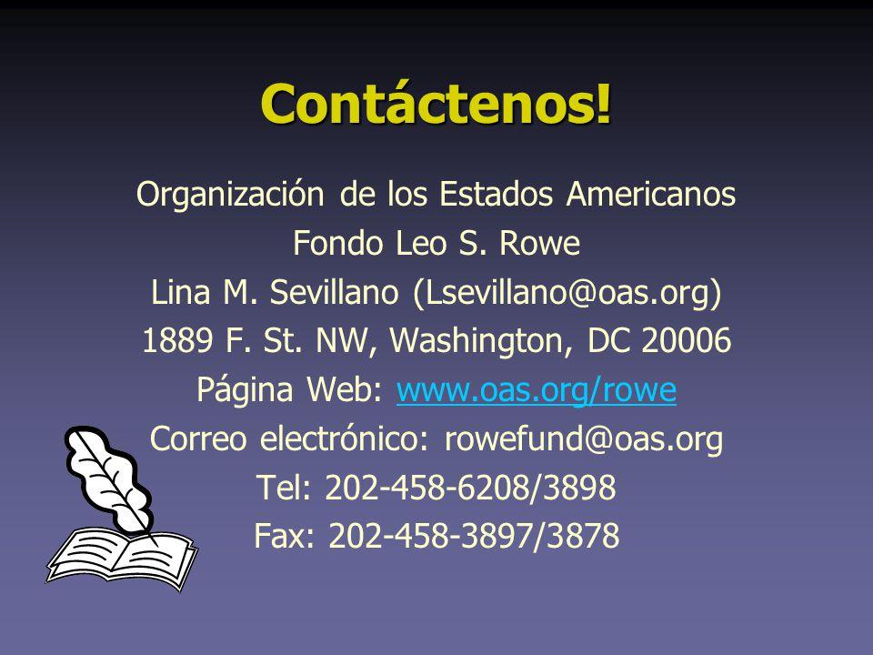 Contáctenos.Organización de los Estados Americanos Fondo Leo S.
