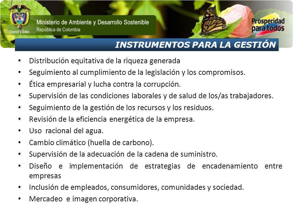 Distribución equitativa de la riqueza generada Seguimiento al cumplimiento de la legislación y los compromisos.