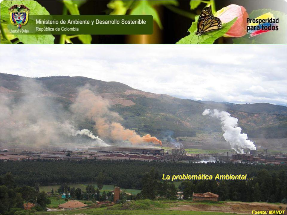 La problemática Ambiental… Fuente: MAVDT