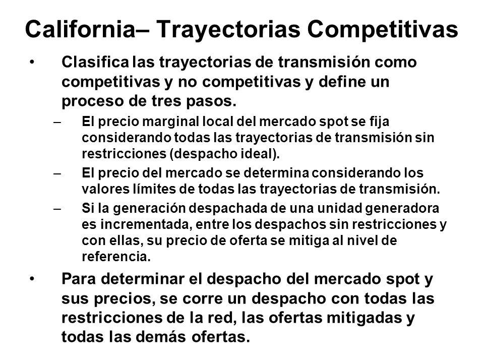 California– Trayectorias Competitivas Clasifica las trayectorias de transmisión como competitivas y no competitivas y define un proceso de tres pasos.