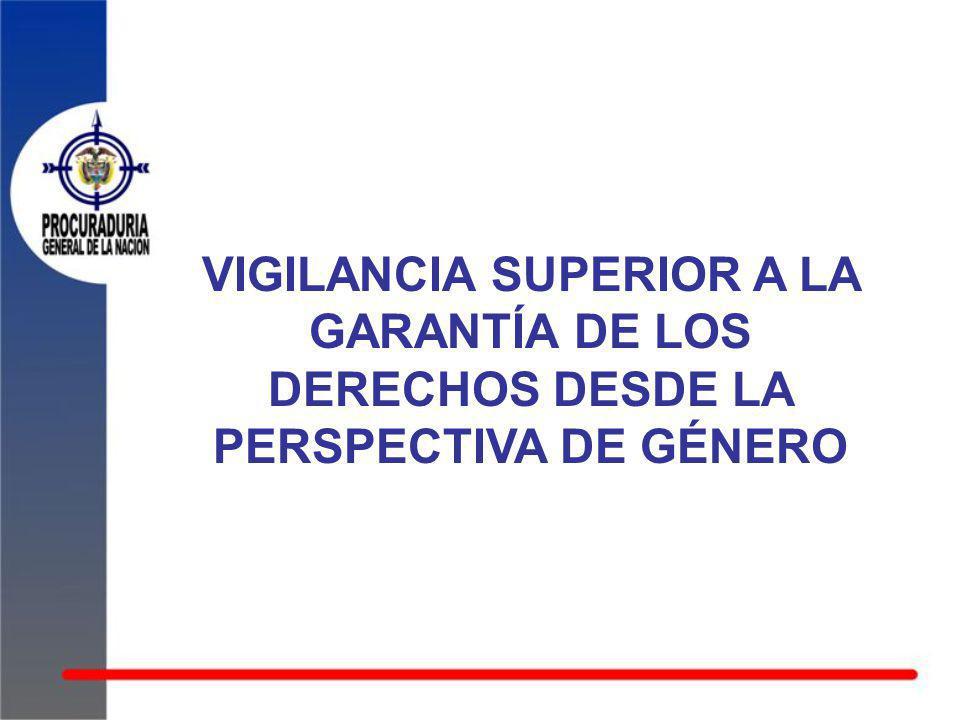 VIGILANCIA SUPERIOR A LA GARANTÍA DE LOS DERECHOS DESDE LA PERSPECTIVA DE GÉNERO