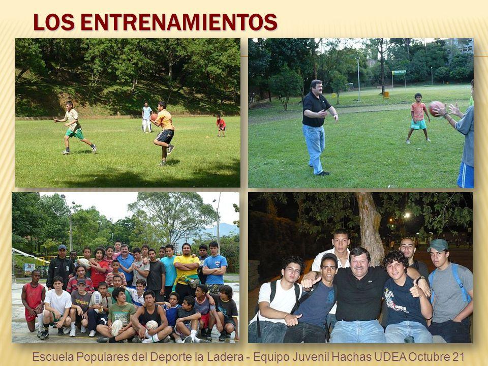 LOS ENTRENAMIENTOS Escuela Populares del Deporte la Ladera - Equipo Juvenil Hachas UDEA Octubre 21