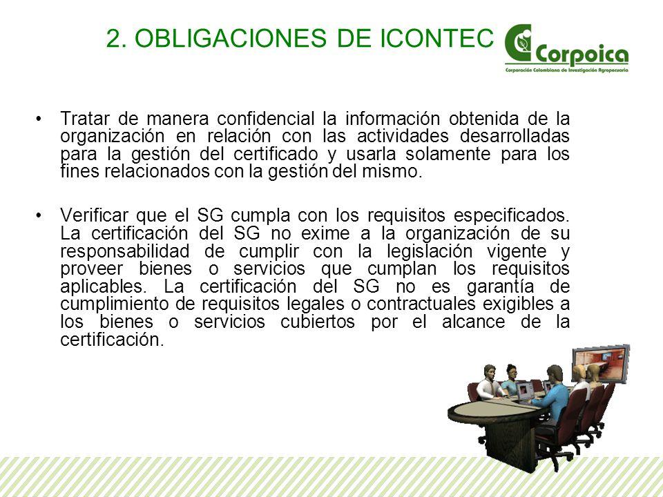 Tratar de manera confidencial la información obtenida de la organización en relación con las actividades desarrolladas para la gestión del certificado