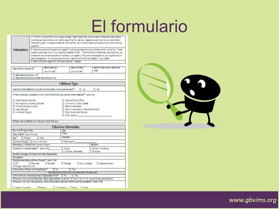 Formulario de Admisión y Evaluación inicial Información administrativa.
