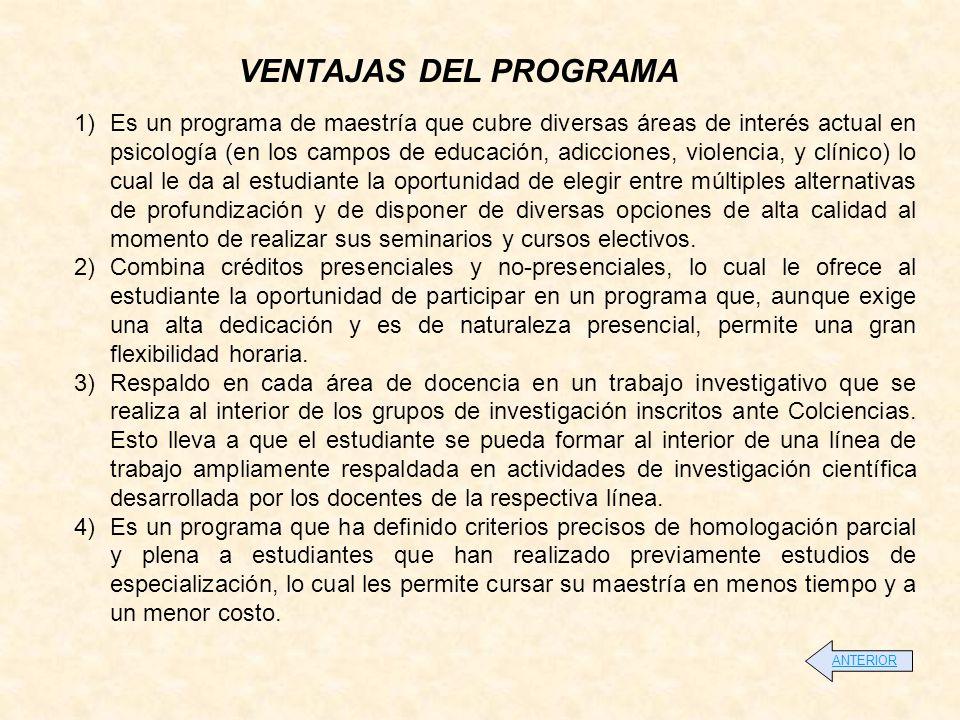 OBJETIVO Formar psicólogos y educadores en el campo de la psicología educativa con énfasis en competencias, en el nivel de especialistas, con el fin de que puedan aportar a la consecución una educación de alta calidad, mediante la formación, la investigación, la elaboración y desarrollo de proyectos de formación y evaluación por competencias en los diferentes niveles de la educación y su desempeño profesional individual y en equipos interdisciplinarios.