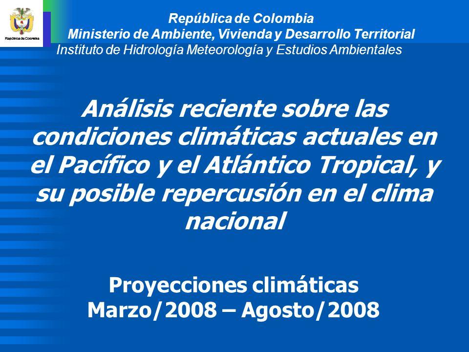 República de Colombia Ministerio de Ambiente, Vivienda y Desarrollo Territorial Instituto de Hidrología Meteorología y Estudios Ambientales Análisis r