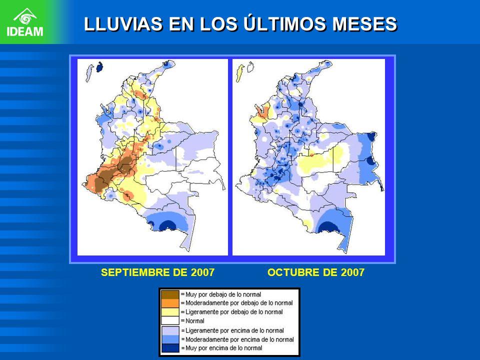 SEPTIEMBRE DE 2007OCTUBRE DE 2007 LLUVIAS EN LOS ÚLTIMOS MESES
