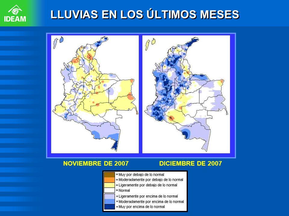 DICIEMBRE DE 2007NOVIEMBRE DE 2007 LLUVIAS EN LOS ÚLTIMOS MESES