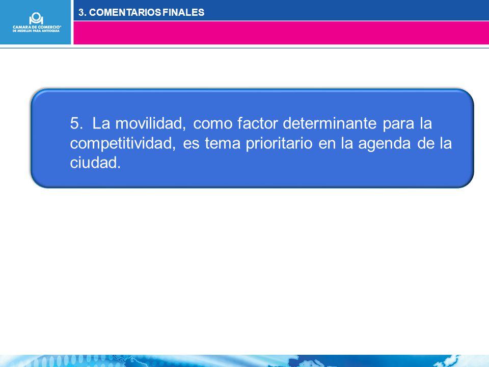3. COMENTARIOS FINALES 5.