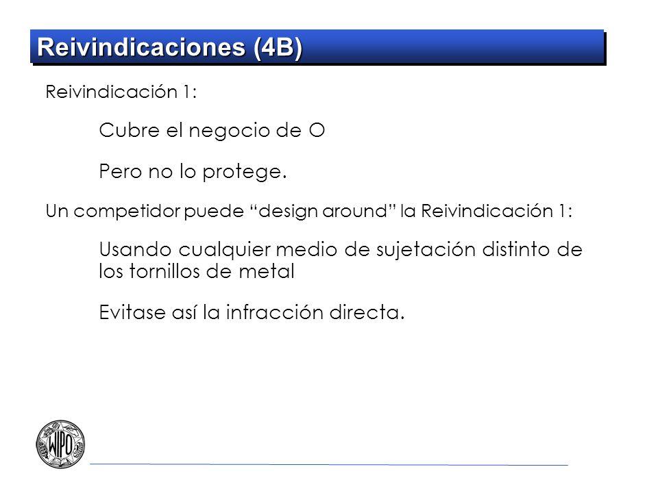 Reivindicaciones (4B) Reivindicación 1: Cubre el negocio de O Pero no lo protege.