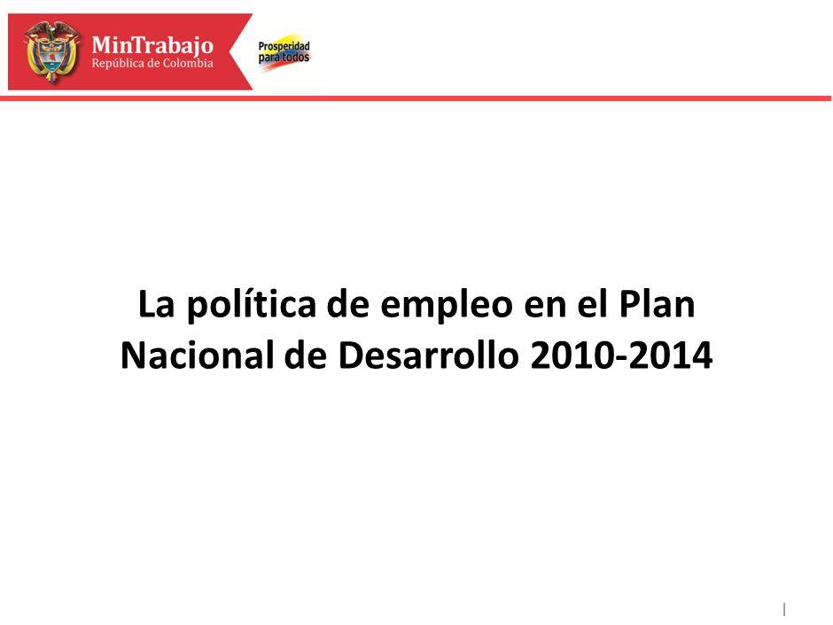 | La política de empleo en el Plan Nacional de Desarrollo 2010-2014