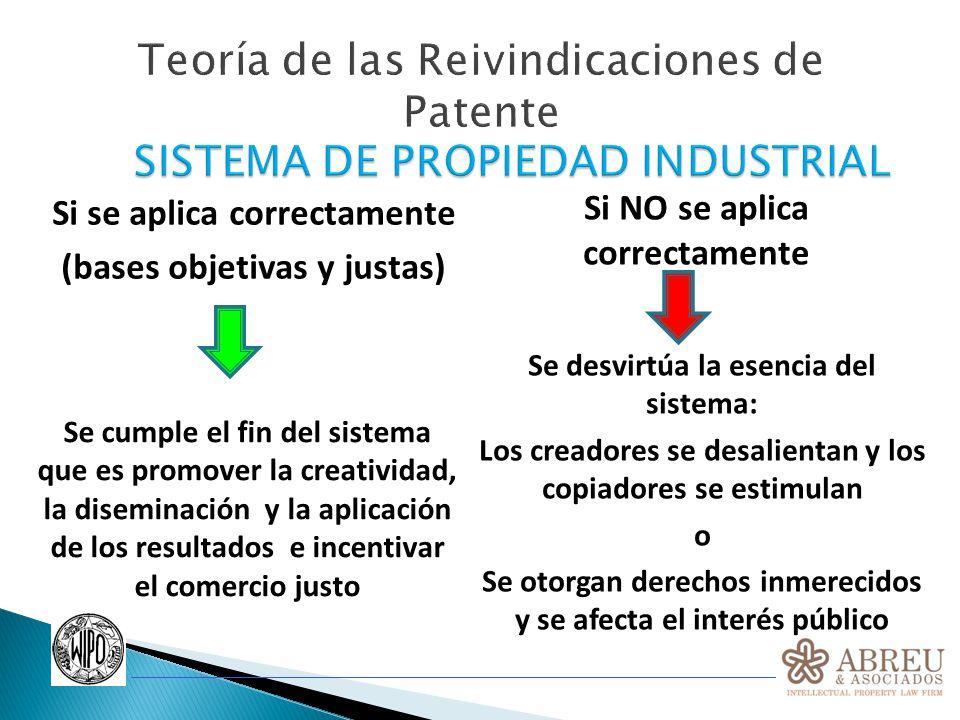 Teoría de las Reivindicaciones de Patente Reivindicaciones de Patente Reivindicaciones de Patente Marcan los límites de la protección (alcance) proporcionada por la patente.