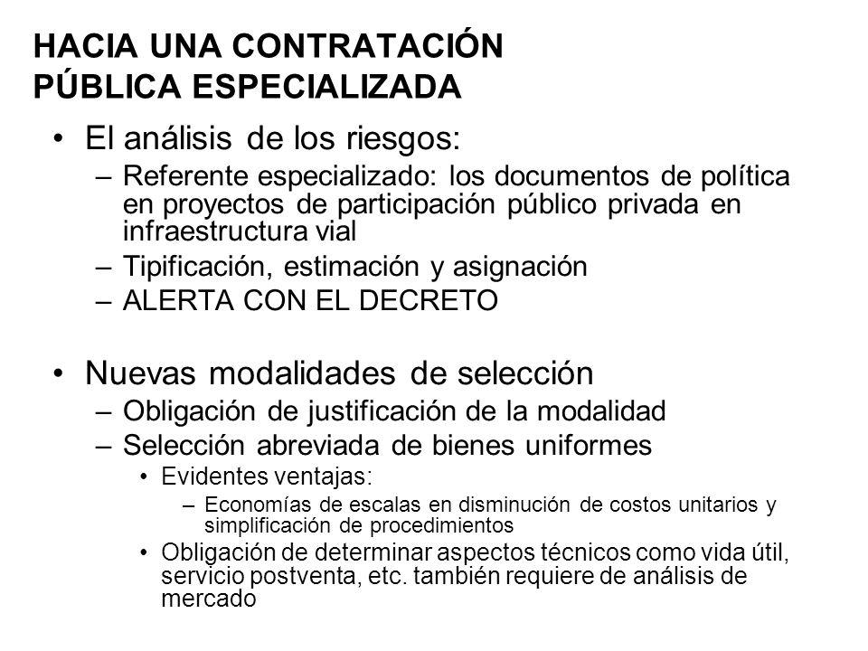 El análisis de los riesgos: –Referente especializado: los documentos de política en proyectos de participación público privada en infraestructura vial