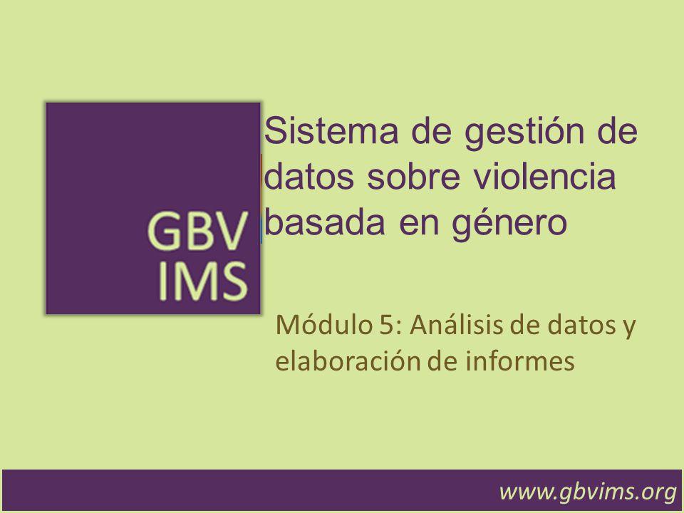 www.gbvims.org Estadísticas Mensuales Resumen de los datos.