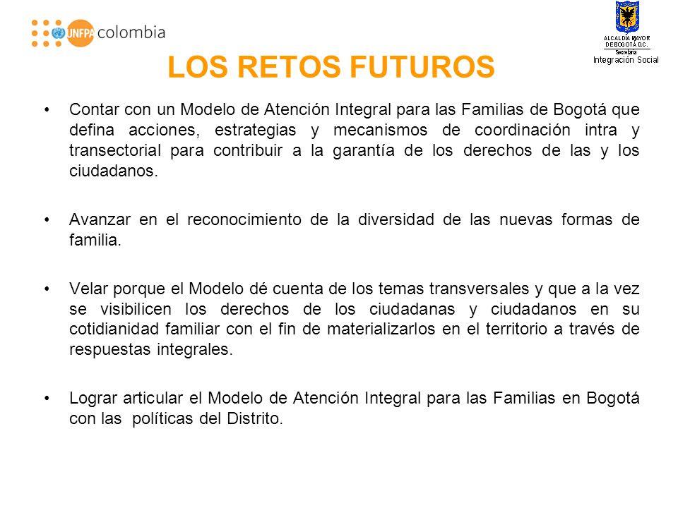 LOS RETOS FUTUROS Contar con un Modelo de Atención Integral para las Familias de Bogotá que defina acciones, estrategias y mecanismos de coordinación intra y transectorial para contribuir a la garantía de los derechos de las y los ciudadanos.