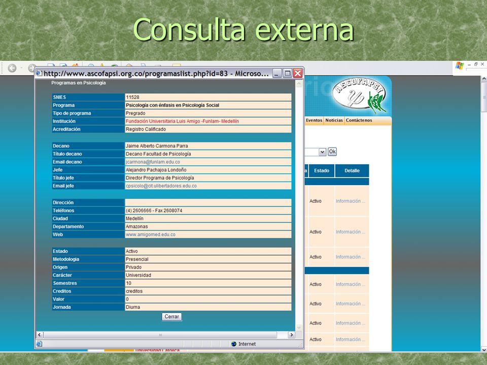 Consulta externa